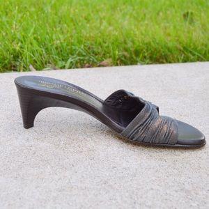 Donald J. Pliner Shoes - Donald Pliner Verda Kitten Heal Leather Slide | 7
